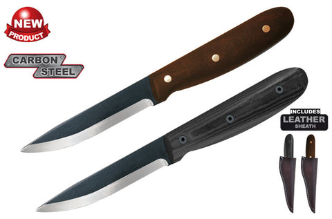 Condor Sapien Knife w/ Leather Sheath - Micarta Handle