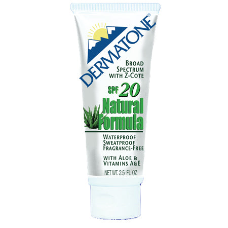 Dermatone SPF 20 Natural Formula Sunscreen 2.5 Oz.