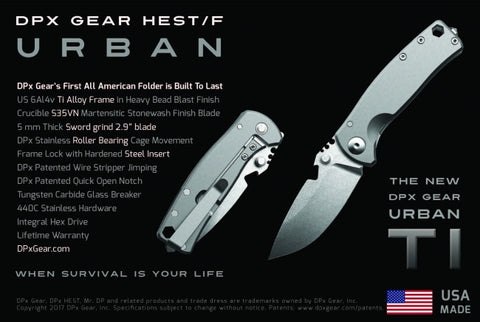 DPx HEST/F Urban Titanium (First Run) Limited Edition Folding Knife