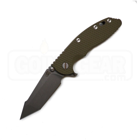 "Hinderer Knives XM-18 3.5"" Fatty Harpoon Tanto Folding Knife - OD Green Scale"