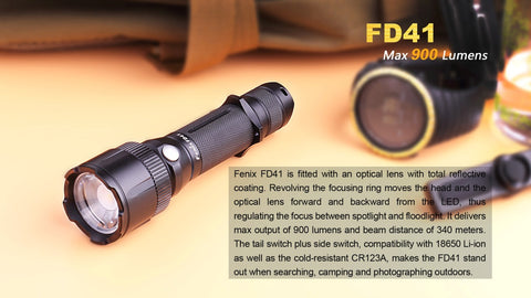 Fenix FD41 900 Lumen 1 x 18650 Cree XP-L HI LED Flashlight