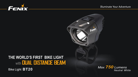Fenix BT20 750 Lumen 4 x CR123 / 2 x 18650 Neutral White CREE XM-L Bicycle Light