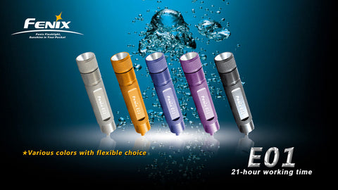 Fenix E01 Blue LED Flashlight