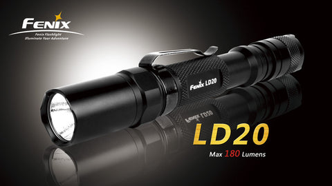 Fenix LD20+ Black CREE Q5 LED Flashlight w/Clip
