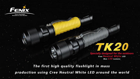 Fenix TK20 Black/Grey CREE LED Flashlight