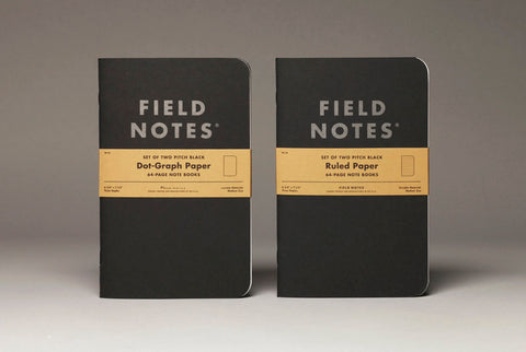 Field Notes Pitch Black Note Book Ruled 2-Pack