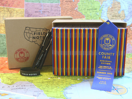 Field Notes Brand County Fair Box Set of All 50 States Notebooks
