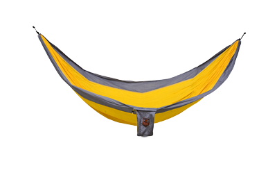 Grand Trunk Double Parachute Nylon Hammock- Orange/Silver