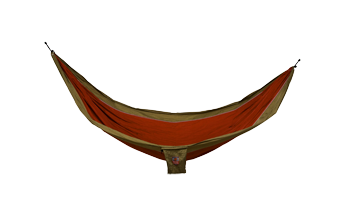 Grand Trunk Single Parachute Nylon Hammock-Crimson/Khaki