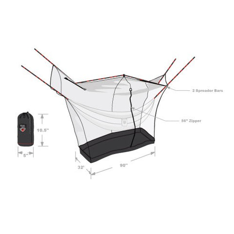 Grand Trunk Hammock Mosquito Net Shelter