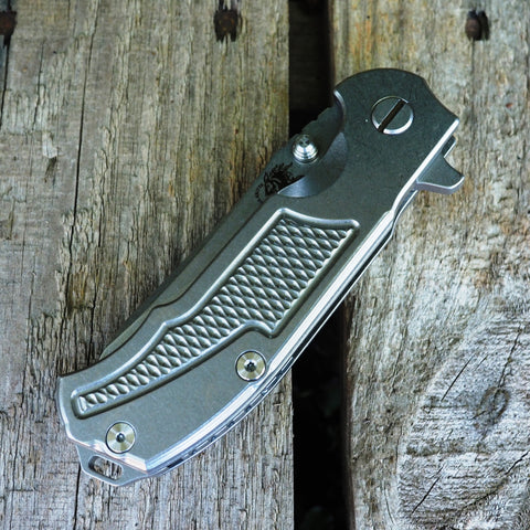 "Hinderer Knives MP-1 3.25"" Stonewashed Titanium Folding Knife"