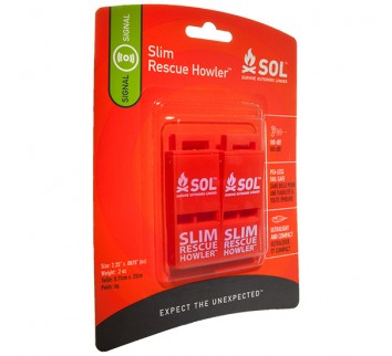 AMK SOL Slim Rescue Howler Whistle - 2 Pack