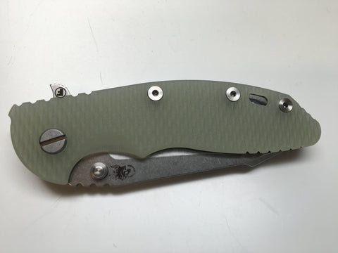 "Hinderer Knives XM-18 3.5"" Fatty Harpoon Tanto Folding Knife - Jade Green Scale"