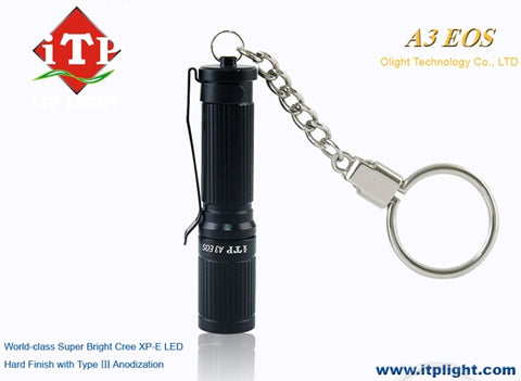 iTP Light A3 EOS Q5 Upgrade Edition AAA LED Flashlight - Black