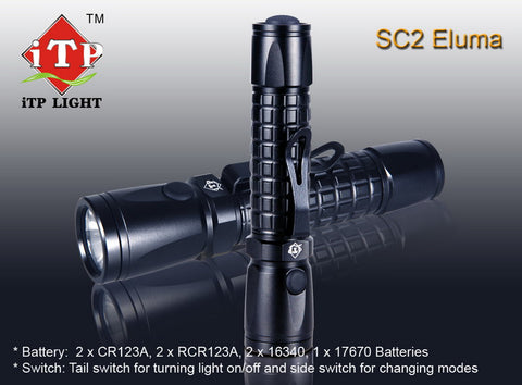 iTP Light SC2 2 x CR123 CREE XP-E R2 LED Flashlight