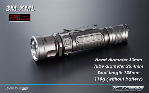 JETBeam Jet IIIM 3M XM-L 450 Lumen Tactical Flashlight