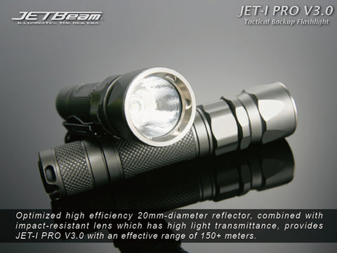 JETBeam Jet-I Pro v3.0 CREE R2 LED Flashlight Gray