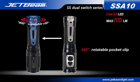 JETBeam SSA10 CREE G2 LED 200 Lumen 1 x AA Flashlight