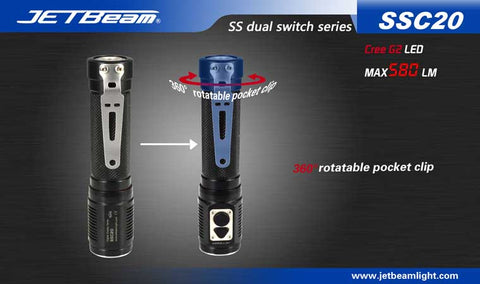 JETBeam SSC20 CREE G2 580 Lumen 2 x CR123 or 1 x 18650 Flashlight