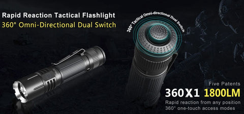 KLARUS 360X1 1800 LUMENS Flashlight - CREE XHP35 HD E4 LED