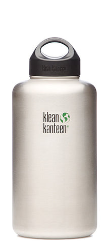 Klean Kanteen Wide Mouth Stainless Steel Bottle - 64 oz
