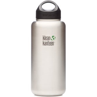 Klean Kanteen Wide Mouth Stainless Steel Bottle - 40 oz