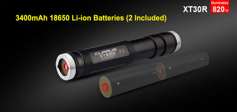 Klarus XT30R 2 x 18650 CREE XHP35 HI D4 1800 Lumen LED Flashlight