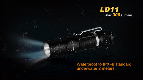 Fenix LD11 1x 14500 / 1x AA 300 Lumens XP-G2 LED Flashlight