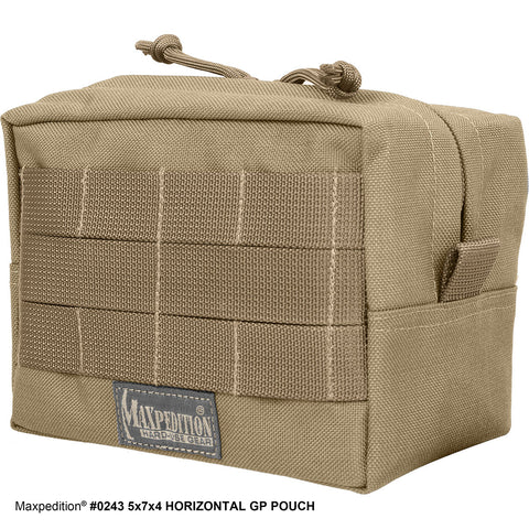 Maxpedition 5 x 7 x 4 Horizontal GP Pouch - 0243B Black