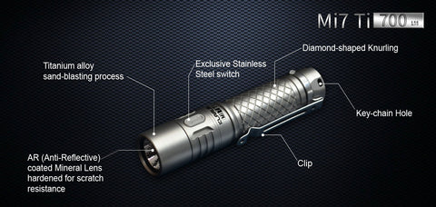Klarus Mi7 Titanium 1 x AA CREE XP-L HI V3 LED Flashlight