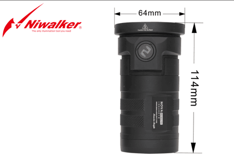 Niwalker Nova MM15MB 4x 18650 6800 Lumens CREE XHP70 LED Flashlight
