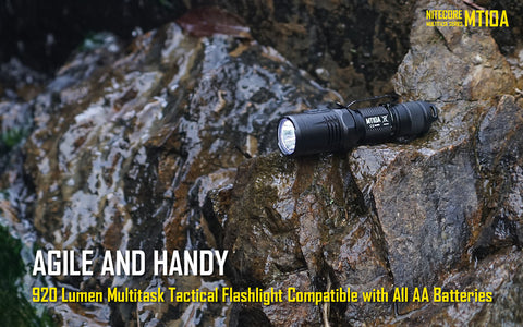Nitecore MT10A 1x 14500 / 1x AA 920 Lumens CREE XM-L2 U2 LED Flashlight