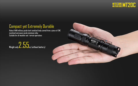 Nitecore MT20C 1x 18650 / 2x CR123 460 Lumens CREE XP-G2 R5 LED Flashlight