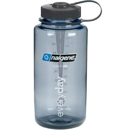 Nalgene Everyday Wide Mouth BPA Free 1 Qt Bottle - Grey