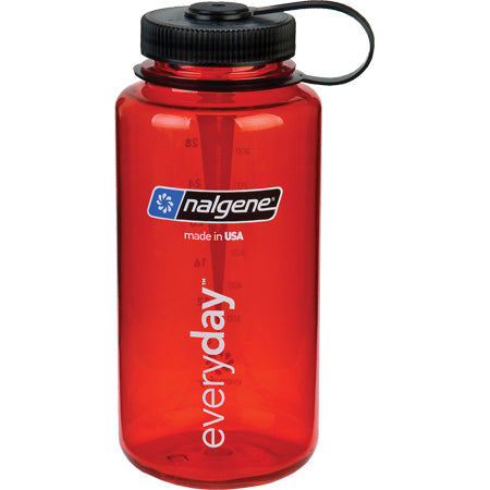 Nalgene Everyday Wide Mouth BPA Free 1 Qt Bottle - Red