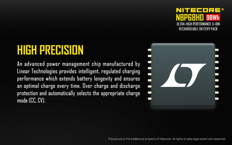Nitecore NBP68HD Li-Ion Rechargeable Battery Pack for