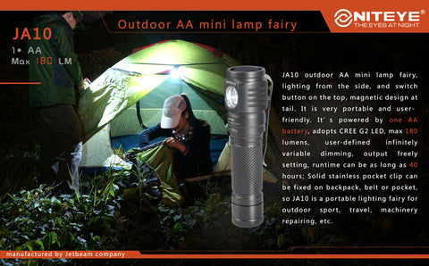 Niteye JA10 CREE XP-G2 180 Lumen 1 x AA Flashlight