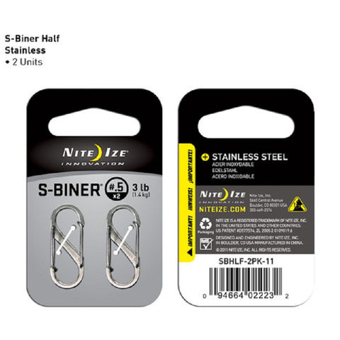 Nite Ize S-Biner Size .5 - Stainless Steel 2 Pack