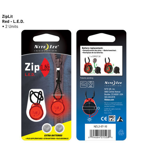 Nite Ize ZipLit LED Red - 2 Pack