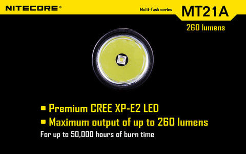 Nitecore MT21A XP-E2 R2 260 Lumen 2 x AA Flashlight