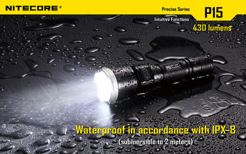 Nitecore P15 XP-G2 LED 430 Lumen 1 x 18650 or 2 x CR123 Flashlight