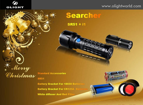 Olight Searcher Holiday Set - SR51 and i1 EOS w/ Accessories