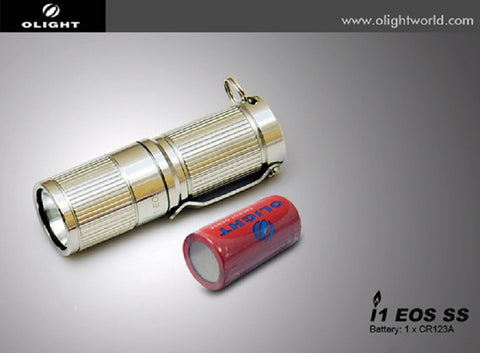 Olight i1 EOS Stainless Steel 180 Lumen XM-L CR123 LED Flashlight