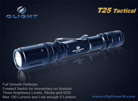 Olight T25-T Tactical CREE Q5 2 x AA LED Flashlight