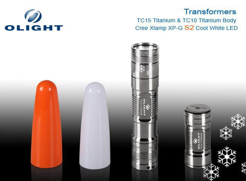 Olight Transformers - Titanium TC15 & TC10 Body S2 Flashlight