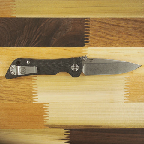 "Southern Grind Spider Monkey Drop Point Tumbled Satin S35VN Carbon Fiber Folding Knife (3.25"" Blade)"