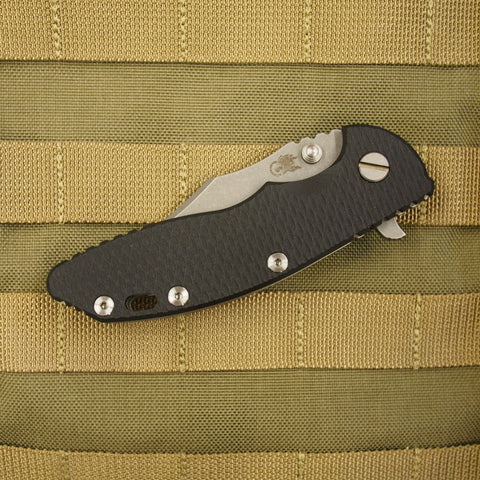 "Rick Hinderer XM-18 Bowie Style Folding Knife w/ Black Scale (3.5"" Blade)"