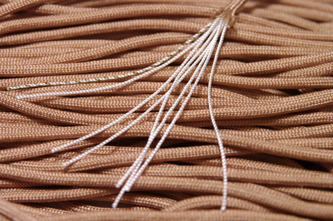 8 Strand 550 Paracord - Tan - 500' Spool