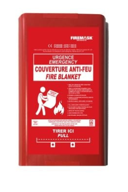 FIREBLANKET puts out a fire in 20 seconds !!