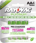 Rayovac AA NiMh Low Self Discharge Batteries - 4 Pack